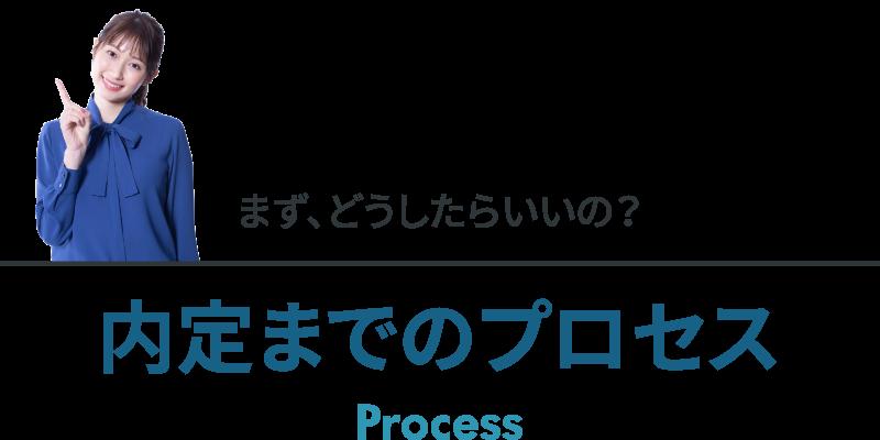まず、どうしたらいいの? 内定までのプロセス Process
